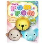 日本 Pom Pom 狗狗發聲玩具波波 猴子 象 獅子 一套三個 狗狗玩具 其他 寵物用品速遞