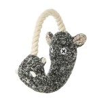 日本FAD 狗狗針織發聲玩具 深灰河馬 一個入 狗狗玩具 FAD ファッド 寵物用品速遞