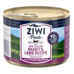 ZiwiPeak 貓罐頭 兔肉及羊肉配方 Rabbit & Lamb 185g (CCRL185) 貓罐頭 貓濕糧 ZiwiPeak 寵物用品速遞