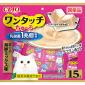 CIAO-貓零食-日本-One-Touch-1兆個乳酸菌肉泥杯-金槍魚海鮮混合味-13g-15個入-粉紅-SC-315-CIAO-INABA-貓零食