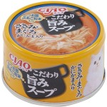 CIAO 日本貓罐頭 旨みスープ 雞肉+金槍魚+蟹柳 80g (黑) (A-183) 貓罐頭 貓濕糧 CIAO INABA 寵物用品速遞