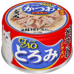 CIAO 日本貓罐頭 とろみ 金槍魚+鰹魚+白飯魚 80g (紅藍) (A-45) 貓罐頭 貓濕糧 CIAO INABA 寵物用品速遞