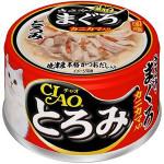 CIAO 日本貓罐頭 とろみ 雞肉+金槍魚+蟹柳 80g (紅黑) (A-43) 貓罐頭 貓濕糧 CIAO INABA 寵物用品速遞