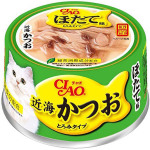 CIAO 日本貓罐頭 近海 鰹魚+扇貝 80g (綠) (A-93) 貓罐頭 貓濕糧 CIAO INABA 寵物用品速遞