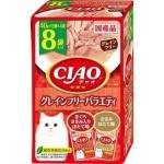 CIAO 貓濕糧 日本貓濕糧包 無穀物 金槍魚雞肉扇貝 40g 8袋入 (IC-389) 貓罐頭 貓濕糧 CIAO INABA 寵物用品速遞