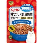 CIAO 貓糧 日本3000億個乳酸菌 鰹魚+扇貝 200g (藍) (P-253) 貓糧 CIAO INABA 寵物用品速遞