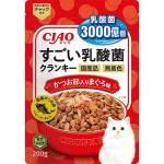 CIAO 貓糧 日本3000億個乳酸菌 鰹魚+金槍魚 200g (紅) (P-251) 貓糧 CIAO INABA 寵物用品速遞