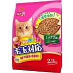日本Mio三才 特選去毛球貓糧腎臟及下部尿路健康維持配方高齡貓適用 魚.雞肉.柴魚片味 2.3kg (桃紅色) 貓糧 Mio三才 寵物用品速遞