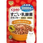 CIAO 貓糧 日本3000億個乳酸菌 鰹魚+雞肉 200g (橙) (P-254) 貓糧 CIAO INABA 寵物用品速遞