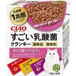 CIAO 貓糧 日本1兆個乳酸菌 金槍魚雜錦 20g 10袋入 (粉紅) (P-245) 貓糧 CIAO INABA 寵物用品速遞
