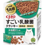 CIAO 貓糧 日本1兆個乳酸菌 鰹魚高湯 20g 10袋入 (綠) (P-243) 貓糧 CIAO INABA 寵物用品速遞