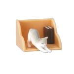 日本直送 貓公仔擺設 架上的貓兒 與書相伴的伸展貓貓 3枚入 生活用品超級市場 貓咪精品