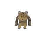 日本直送 貓公仔擺設 坐著的逞強貓 1枚入 生活用品超級市場 貓咪精品