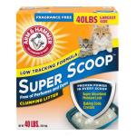 礦物貓砂 ARM & HAMMER 貓砂 原味配方 Super Scoop 40lbs (02401) 貓砂 礦物貓砂 寵物用品速遞
