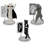 日本直送 公仔擺設 中二病的貓 自備旁白和舞台 1套3隻 生活用品超級市場 貓咪精品