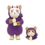 日本直送 貓公仔擺設 忍者貓幪面俠 Ninja Cat (紫色 面具可拆除) 2枚入 生活用品超級市場 貓咪精品