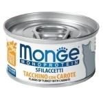 Monge 單一蛋白貓罐頭 火雞蘿蔔配方 80g (MO7191) 貓罐頭 貓濕糧 Monge 寵物用品速遞