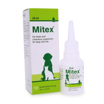 Mitex Ear drops and cutaneous suspension 除菌洗耳水 20ml 貓犬用清潔美容用品 耳朵護理 寵物用品速遞