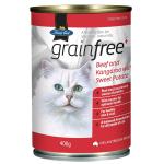 Fussy Cat無穀物增肌罐 牛肉袋鼠肉 400g (紅) (TBS) 貓罐頭 貓濕糧 Fussy Cat 寵物用品速遞