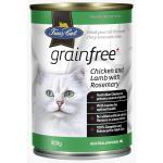 Fussy Cat無穀物營養罐 雞羊 400g (綠) (TBS) 貓罐頭 貓濕糧 Fussy Cat 寵物用品速遞