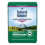 Natural Balance L.I.D. 糙米系 羊肉成犬糧 細粒 12lb 狗糧 Natural Balance 寵物用品速遞