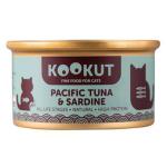 KOOKUT 天然貓罐 太平洋吞拿魚沙甸魚 70g (WCKUCW1008297) 貓罐頭 貓濕糧 KOOKUT 寵物用品速遞