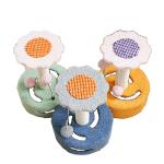 劍麻貓抓柱玩具 絨布向日葵款式 一個 (顏色隨機) 貓咪玩具 貓抓板 貓爬架 寵物用品速遞