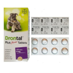 Drontal plus Deworming tablets 犬用廣譜杜蟲藥 咀嚼肉粒 (BAY006-108) 狗狗保健用品 杜蟲殺蚤用品 寵物用品速遞