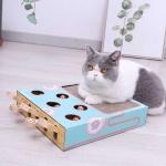 雙倍瘋狂 貓咪瘋狂打地鼠+貓抓板 二合一貓玩具 貓咪玩具 貓抓板 貓爬架 寵物用品速遞