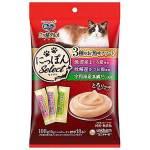 日本unicharm 三星銀匙肉泥餐包 金槍魚+鰹魚+真鯛 108g (6g*18入) (粉紫綠) 貓小食 Unicharm 三星銀匙 寵物用品速遞