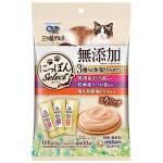 日本unicharm 三星銀匙肉泥餐包 無添加 金槍魚+鰹魚+雞肉 108g (6g*18入) (粉紫橙) 貓小食 Unicharm 三星銀匙 寵物用品速遞