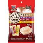 日本unicharm 三星銀匙肉泥餐包 鰹魚+三文魚+鰤魚 108g (6g*18入) (紫紅黃) 貓小食 Unicharm 三星銀匙 寵物用品速遞