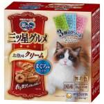 日本unicharm 三星銀匙貓脆餅 混合裝 金槍魚+鰹魚及鯛魚及扇貝 180g (綠藍粉) 貓小食 Unicharm 三星銀匙 寵物用品速遞