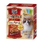 日本unicharm 三星銀匙貓脆餅 混合裝 鯛魚+扇貝及金槍魚及金槍魚+鰹魚 180g (黃藍綠) 貓小食 Unicharm 三星銀匙 寵物用品速遞