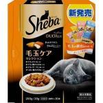 日本Sheba Duo Plus 夾心餡餅貓咪乾糧 毛球排出 4種口味MIX 200g (橙) 貓小食 Sheba 寵物用品速遞