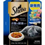 日本Sheba Duo Plus 夾心餡餅貓咪乾糧 保護腸道 4種口味MIX 200g (藍) 貓小食 Sheba 寵物用品速遞