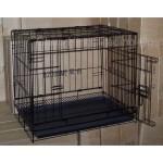 兩尺焗漆可摺寵物籠 黑色 (貓犬用) (60x42x51cm) (A1109D) 貓犬用日常用品 寵物籠 寵物用品速遞