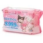 日本LEC Sanrio Characters 99.9%純水濕紙巾 80枚 3個入 生活用品超級市場 個人護理用品