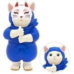 日本直送 貓公仔擺設 忍者貓幪面俠 Ninja Cat (藍色 面具可拆除) 2枚入 生活用品超級市場 貓咪精品