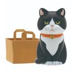 日本直送 貓公仔擺設 放在紙袋内的貓2 配淨棕色紙袋一個入 生活用品超級市場 貓咪精品