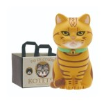 日本直送 貓公仔擺設 放在紙袋内的貓2 配棕色貓頭紙袋 一個入 生活用品超級市場 貓咪精品