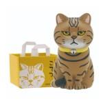 日本直送 貓公仔擺設 放在紙袋内的貓2 配橙色貓頭紙袋 一個入 生活用品超級市場 貓咪精品