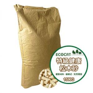 貓砂-木貓砂-ECOCAT特級健康環保崩解式松木貓砂-15kg-木貓砂-寵物用品速遞