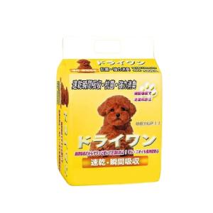 安潔樂ドライワン-寵物尿墊-狗尿墊-狗尿片-60x90-XL碼-25枚入-黃-狗尿墊-寵物用品速遞