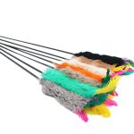 柱狀羽毛逗貓棒 (顏色隨機) 貓咪玩具 逗貓棒 寵物用品速遞