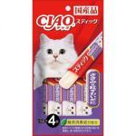 CIAO 貓零食 日本啫喱果凍棒 ささみ&紅ずわいがに 雞肉女王蟹味 60g (紫令) (4SC-85) (TSC-124) 貓小食 CIAO INABA 貓零食 寵物用品速遞