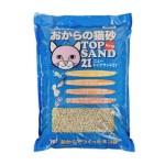 Top-Sand-21-豆腐貓砂-日本Top-Sand-21有機單通豆腐貓砂-6L-米黃砂藍包裝-豆腐貓砂-豆乳貓砂-寵物用品速遞