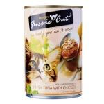 Fussie Cat高竇貓 純天然貓罐頭 吞拿魚+雞肉 Fresh Tuna with Chicken 400g (FU-4TCC) 貓罐頭 貓濕糧 Fussie Cat 高竇貓 寵物用品速遞