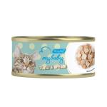 My baby 貓罐頭 吞拿魚及鯛魚 Tuna with Bream 85g (綠) (90401386B) 貓罐頭 貓濕糧 My baby 寵物用品速遞
