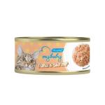 My baby 貓罐頭 吞拿魚及蝦 Tuna With Shrimp 85g (橙) (90401384B) 貓罐頭 貓濕糧 My baby 寵物用品速遞